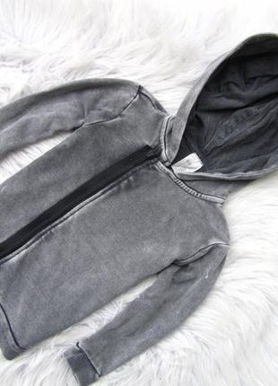 Стильная кофта реглан бомбер с капюшоном h&m