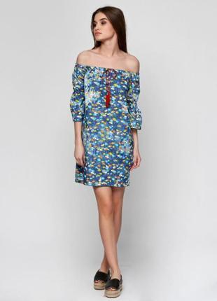Распродажа !  шикарное платье - сарафан с опущеными плечами р....