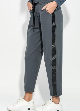 Скидка!!!! штаны, брюки со вставкой из эко-кожи