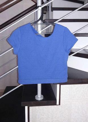 Синяя оригинальная футболка, топ (стеганка) m,l