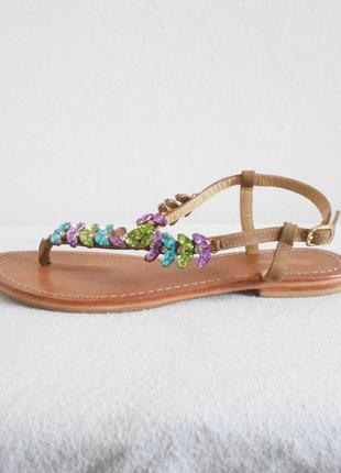 Нарядные кожаные сандалии босоножки вьетнамки тт bagatt 🌿