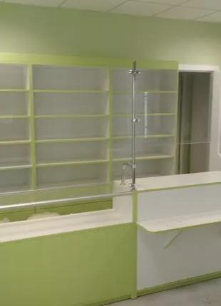 Мебель для аптек,аптечное оборудование,витрины,прилавки стеллажи.