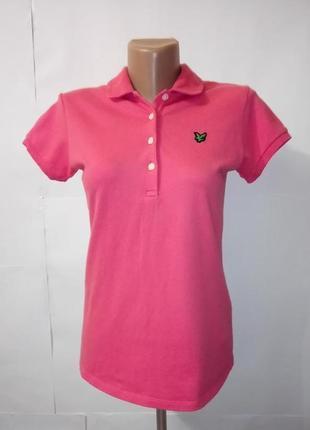 Футболка поло розовая мягкая lyle scott. uk 12/40/m