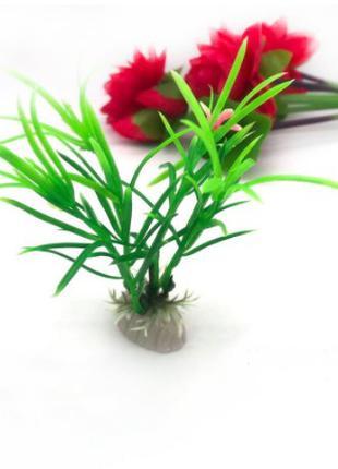 Растения искусственные в аквариум зеленый