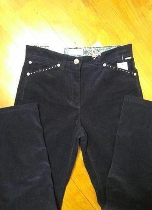 Велюровые брюки с высокой талией