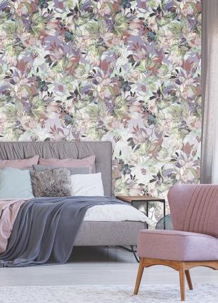 Дизайнерское панно в спальню Pastel flowers in Retro style