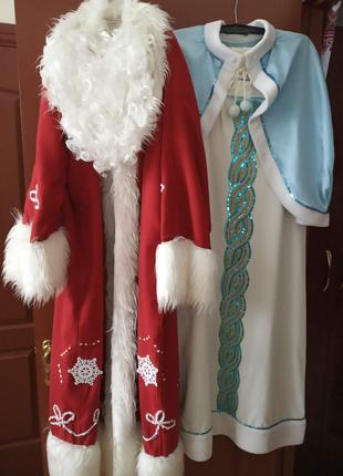 Костюмы Деда Мороза и Снегурочки (оренда или продажа)
