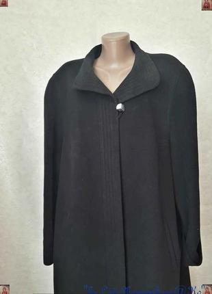 Новое лаконичное чёрное пальто прямого кроя осень 82% шерсть/1...