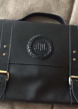 Набор кожаный портфель/сумка + кошелёк