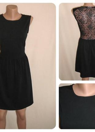 Платье мини с кружевной спиной/платье с открытой спиной/сукня ...