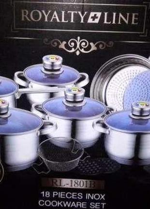 Набор посуды Royalty Line RL-1801B - 18 пр