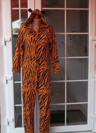 44 р флисовый комбинезон пижама кигуруми