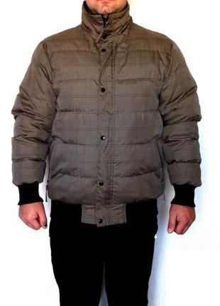 Клетчатая куртка бомбер из плащевки в клетку от smog