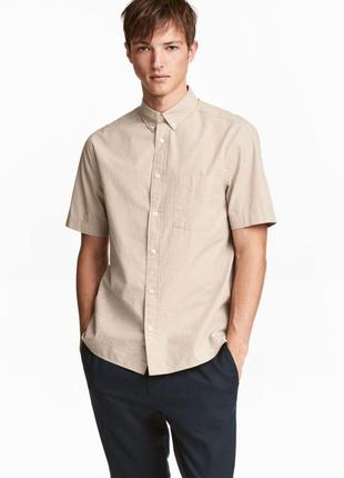 Рубашка до короткого рукава тенниска из смеси льна и  хлопка о...