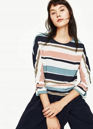 Элегантная полосатая блуза блузка в полоску от zara