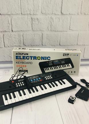 Синтезатор - пианино с микрофоном с плеером в комплекте (РОЗОВЫЙ)