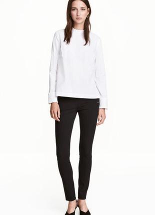 Базовые черные штаны лосины леггинсы с стрелками от h&m