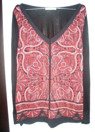 Кофточка кофта блуза  в принт oasis