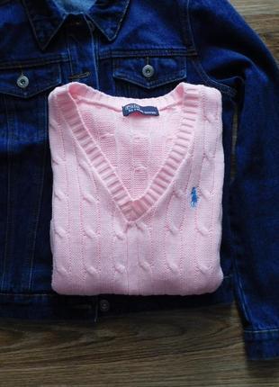 Теплый базовый свитер джемпер пуловер в косы