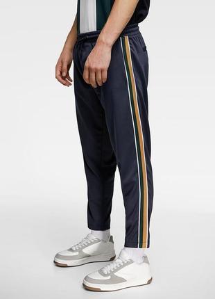 Джоггеры с лампасами спортивные штаны от zara