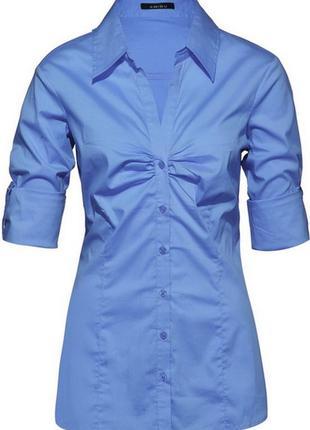 Хлопковая рубашка темно-синего цвета