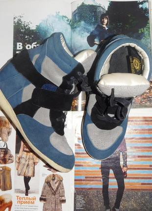Сникерсы кроссовки ботинки на танкетке утепленные lino marano