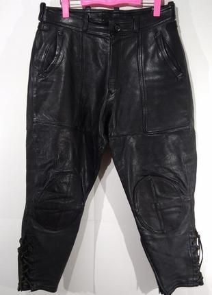 Байкерские фирменные кожаные штаны hein gericke размер 50