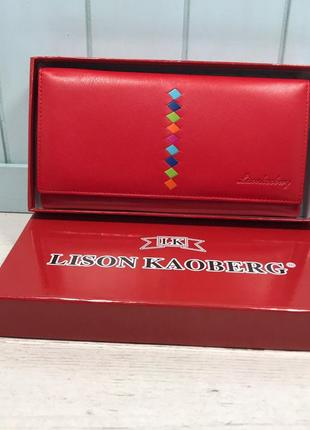 Женский кожаный рюкзак красный lison kaoberg жіночий шкіряний ...