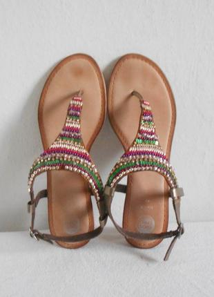 Кожаные  сандалии босоножки на низком ходу 🌿