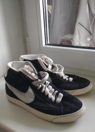 Черный кроссовки nike , blazer mid vintage , old school