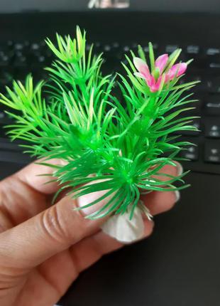 Искусственные растения для аквариума зеленые