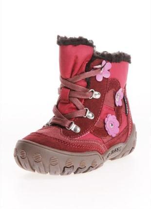 Зимние ботинки натур замш geox 27р