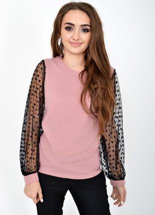Блуза женская цвет пудровый
