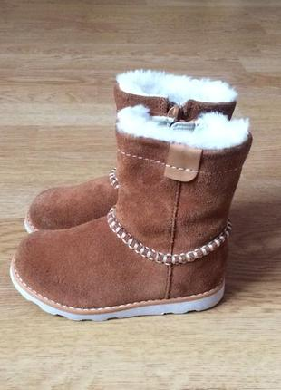 Замшевые ботинки clarks 22 размера