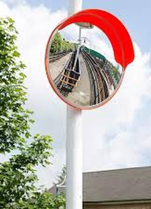 Сферическое универсальное зеркало безопасности Uni450 с козырьком