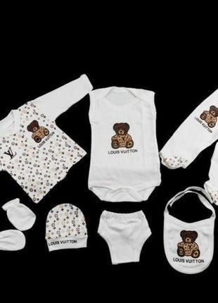 Подарочный набор для новорожденного,на выписку, Louis vuitton