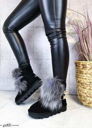 ❤ женские белые зимние замшевые ботинки сапоги полусапожки бот...