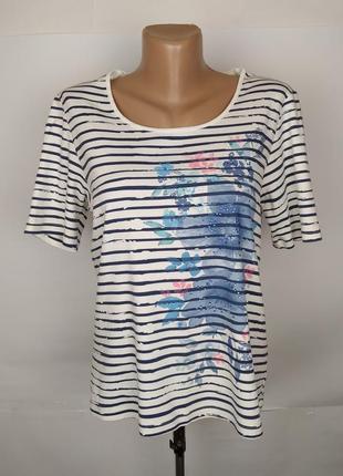 Блуза кофточка топ красивая хлопковая в принт паетки marks&spe...