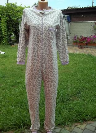 42 / 44 р  домашний флисовый комбинезон пижама кигуруми человечек