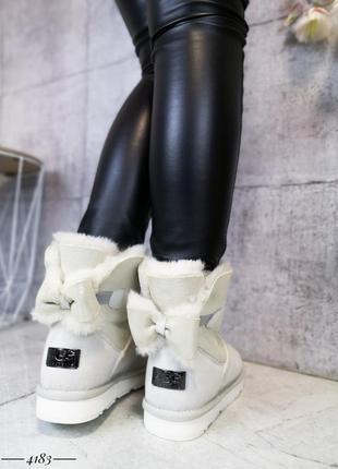 ❤ женские белые зимние ботинки угги  сапоги полусапожки ботиль...