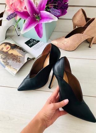 Lux обувь!❤️кожаные туфли на шпильке лодочки 👠