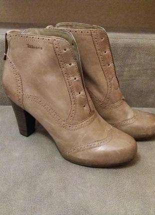 Ботинки бренд-tamaris-цвет хаки..оливы-38h р №00 нюанс