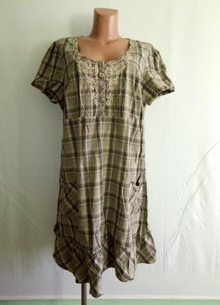 Платье комфортное коттоновое kappahl, р. 48-50.