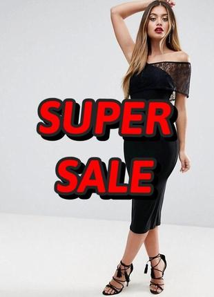 👑♥️final sale 2019 ♥️👑  платье миди с кружевными вставками  на...