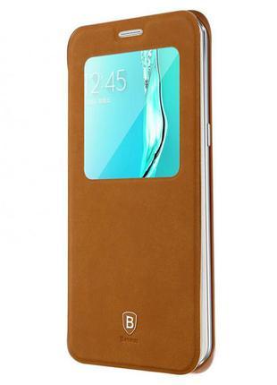 Чехол Baseus для Samsung S6 Edge Plus Terse leather Case Корич...
