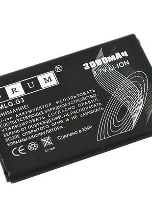Батарея Аккумулятор Brum Standard LG G3 (BL-53YH) (3000mAh)