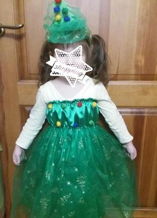"Новогодний костюм ""ёлочка"" на девочку 4-6 лет."
