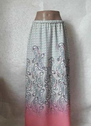 Фирменная charles voegele шифоновая юбка в пол в красивейший е...
