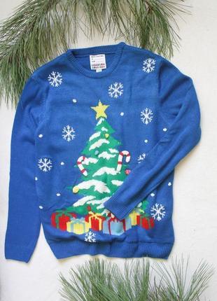 Мужской новогодний свитер с гирляндой от primark (42), размер xl