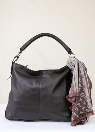 Элегантная кожаная сумка la strada hobo